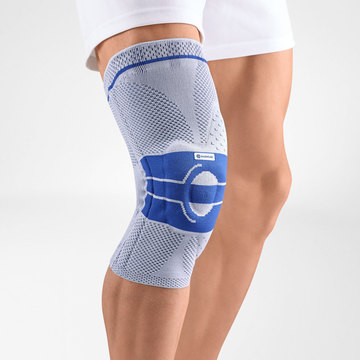 Image of our knee brace GenuTrain A3 worn on a knee