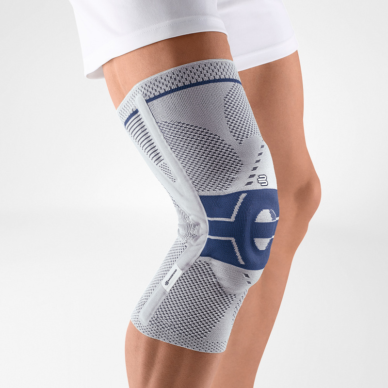 Image of our knee brace GenuTrain P3 worn on a knee